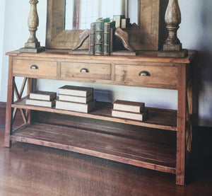 Summerhouse Console Made from Reclaimed Pine