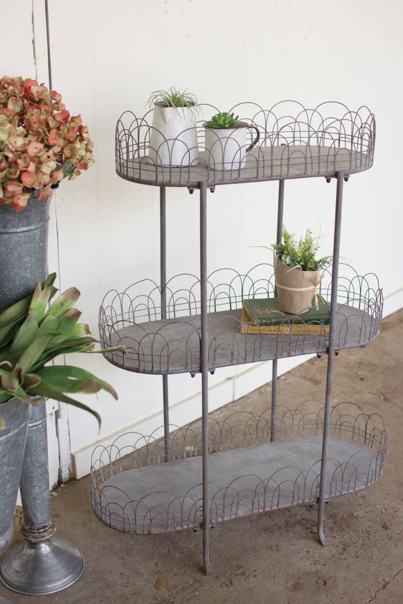 Three Tier Frenchy Metal Display Stand Shelving