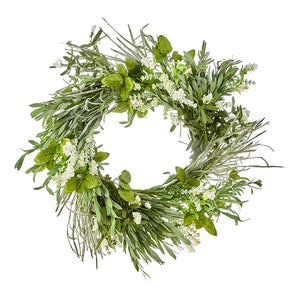 "23"" Mixed Herb & Floral Wreath"