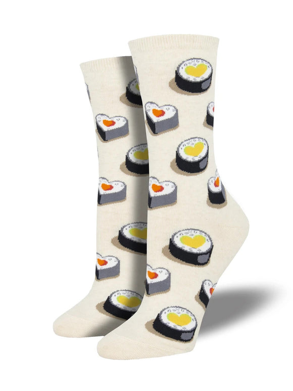Women's Socksmith Sushi Socks Love at First Bite in Ivory Heather