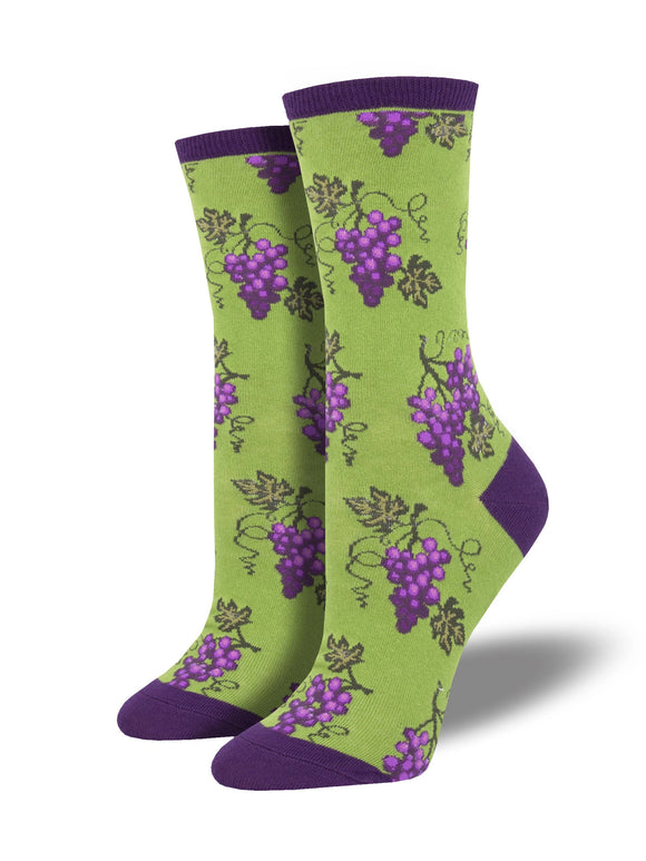Women's Socksmith One Fine Vine Grapes Socks in Green