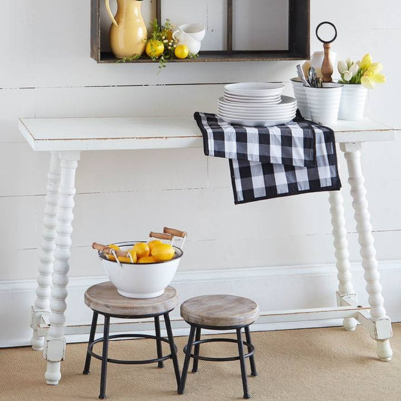 White Narrow Cottage Console Table - Local Pick Up Only