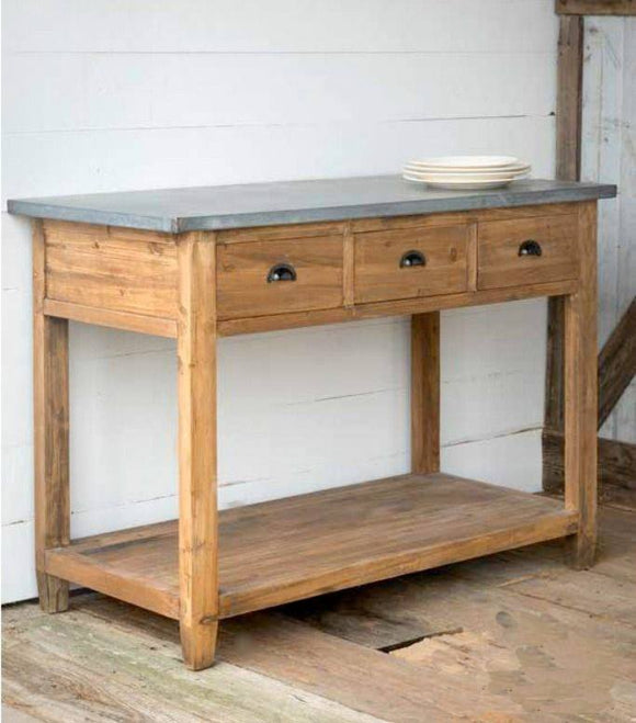 Zinc Top Farmhouse Workstation