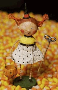 Flirty Gertie Halloween Trick or Treater Figurine by Lori Mitchell