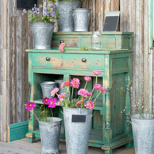 Park Hill Florist's Cabinet in Distressed Green