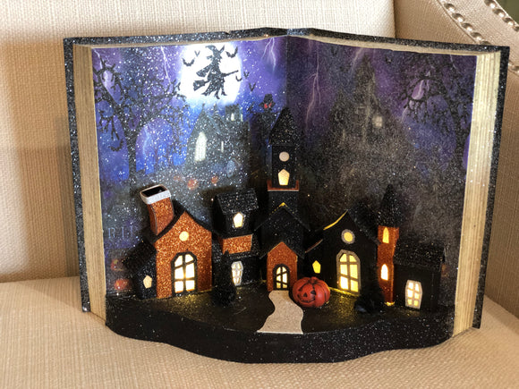 Light Up Halloween Book - Orange