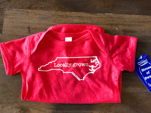 Locally Grown Onesie in Red House of Swank