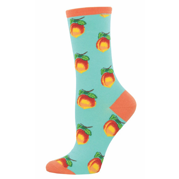Women's Socksmith Georgia Peach Socks in Aquamarine