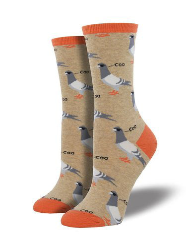 Women's Socksmith Dats Coo Man Pigeon Socks in Oatmeal