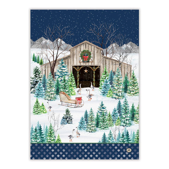 Christmas Snow Kitchen Towel