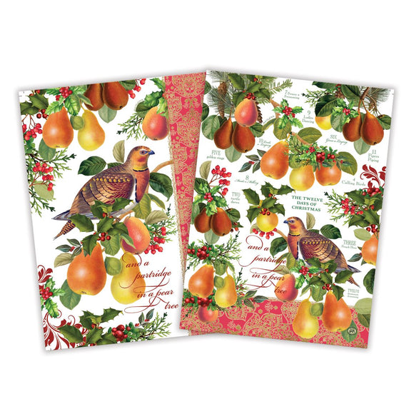 In a Pear Tree Kitchen Towel Set of 2