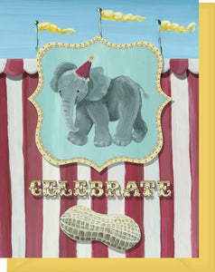 Celebrate - Blank Inside - Congrats, New Baby - Elephant & Little Peanut