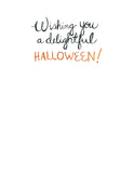 "Halloween Trick or Treat Owl Greeting Card - ""Wishing you..."""