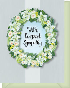 With Deepest Sympathy Greeting Card - Wishing You Peace...