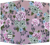 Mauve, Periwinkle & Navy Floral Design - Blank Notecard