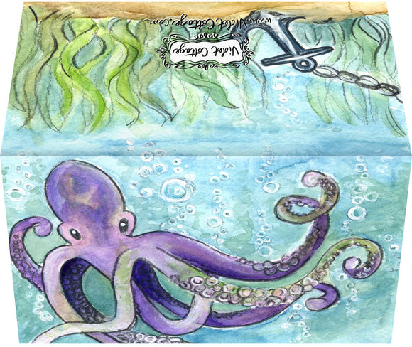 Small Enclosure Card - Octopus and Anchor
