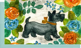 Small Enclosure Card - Scottie Dog with Flowers