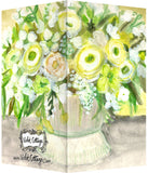 Small Enclosure Card - Vase with Yellow & White Flowers