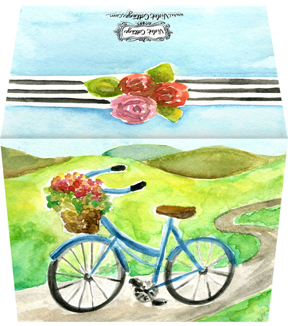 Watercolor Bicycle - Blank Notecard