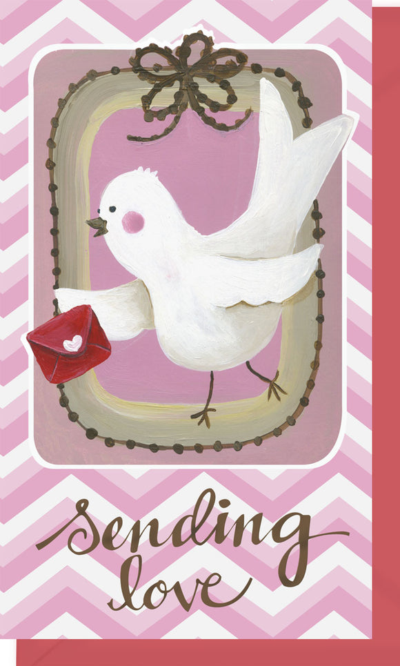 Small Enclosure Card - Sending Love Bird