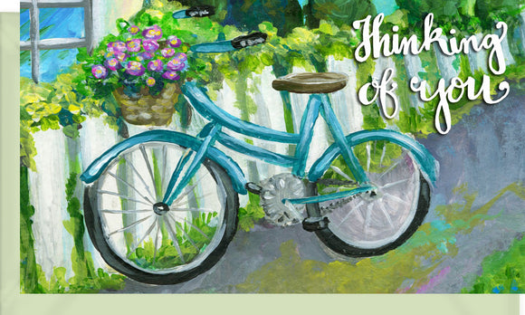 Small Enclosure Card - Thinking of You Bicycle
