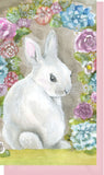 Small Enclosure Card - Bunny with Flowers