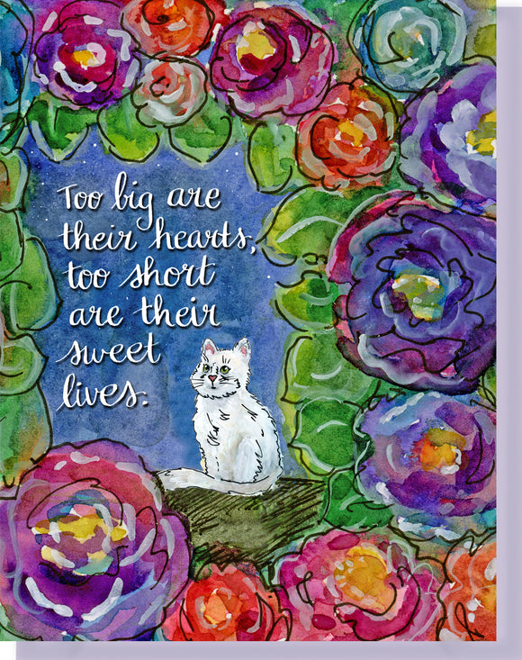 Sympathy Cat Greeting Card - Heartfelt Condolences