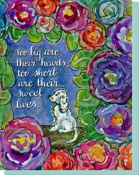 Sympathy Dog Greeting Card - Heartfelt Condolences