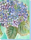 Watercolor Hydrangeas - Blank Inside Notecard