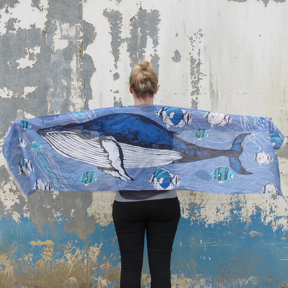 Into The Wild Whale Scarf by House of Disaster