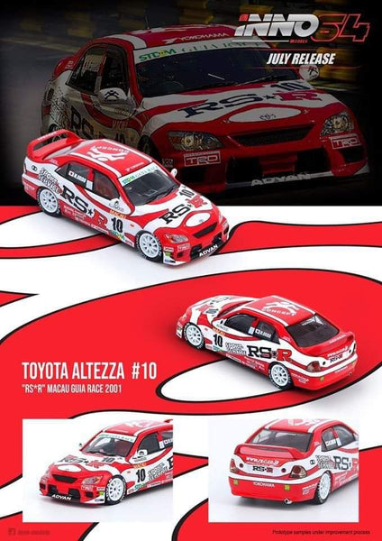【超限量】Inno 64 Toyota Altezza #10 Team rs-r macau guia race 2001