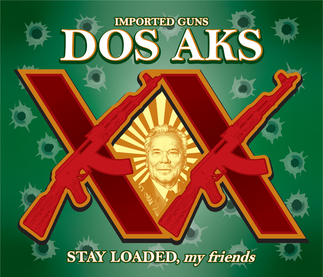 Dos AKs Decal