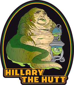 Hillary The Hutt Decal