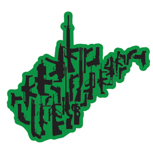 West Virginia Guns (Green) Decal