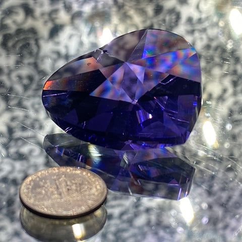 Swarovski Heart Prism 40mm Cut