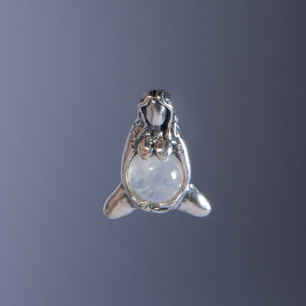 Goddess of Abundance Rainbow Moonstone Pendant