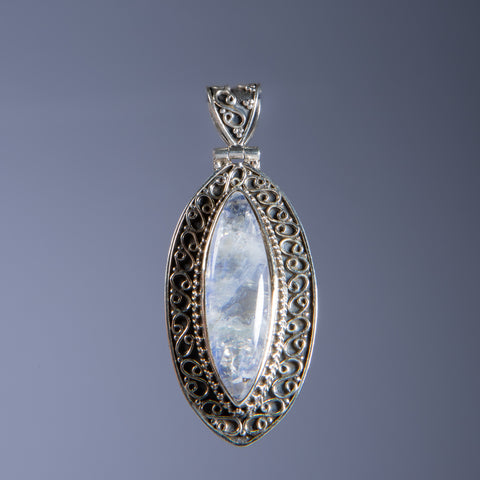 Rainbow Flash Moonstone Pendant