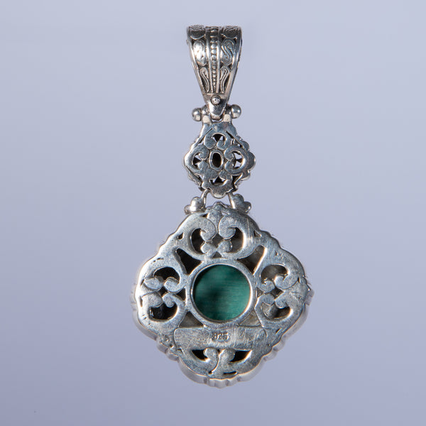 Bali Silver Turquoise Pendant