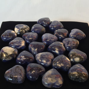 Sodalite Heart, High grade