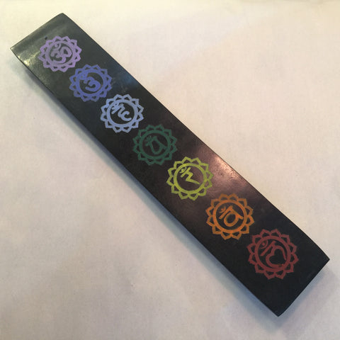 Soapstone Incense Holder - 7 Chakras