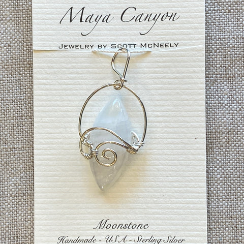 Blue Flash Moonstone Pendant