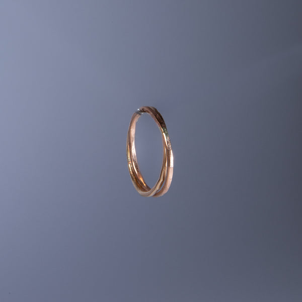 Connected Gold-Fill and Rose Gold Ring