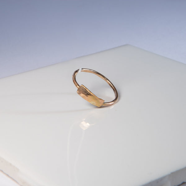 Rectangle Gold-Fill Ring