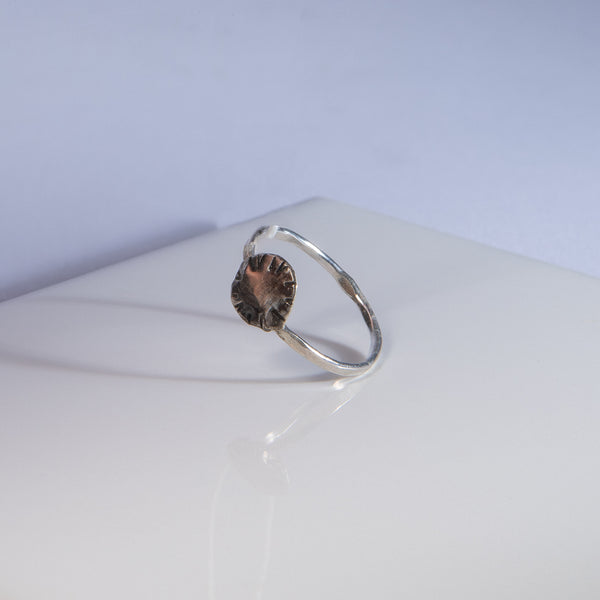 Silver Medallion Ring