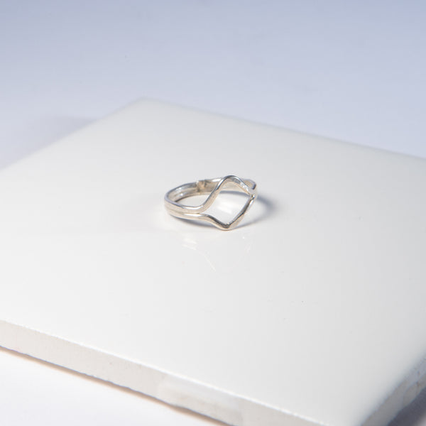 Silver Open Diamond Ring