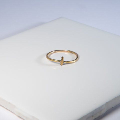 Bar Gold-Fill Ring