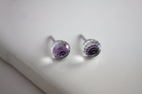Swarovski Stud Earring (Medium, Faceted Sphere)