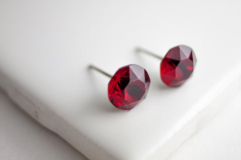 Swarovski Stud Earring Large Table cut, Warm Tones