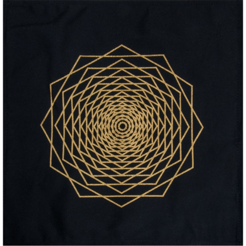 Printed Cotton Crystal Grid - Dodeca Fractal