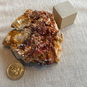 Vanadanite Cluster on Matrix with Barite, L